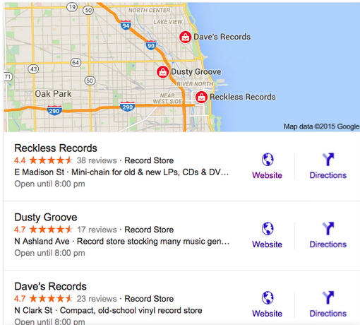 google local snackpack serp