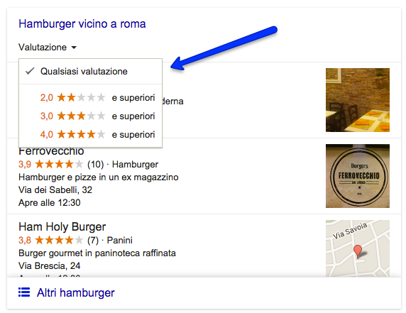 quality score local serp